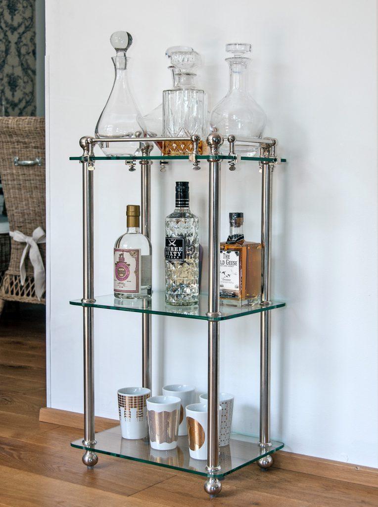 bartisch glas metall